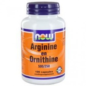 NOW ARGININE&ORNITHINE 500/250 100ST