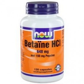 NOW BETAINE HCI 648MG 120ST