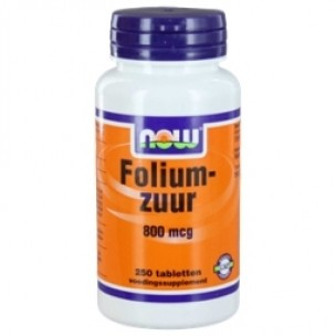 NOW FOLIUMZUUR 800mcg 250ST