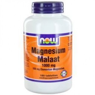 NOW MAGNESIUM MALAAT 1000MG 180ST