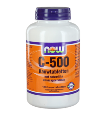 NOW C-500 SINAASAPPEL KAUWTAB 100ST