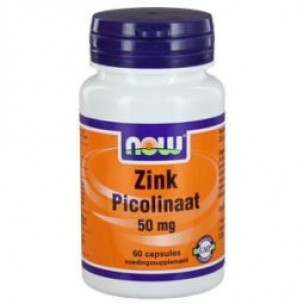 NOW ZINC PICOLINAAT 50MG 60ST