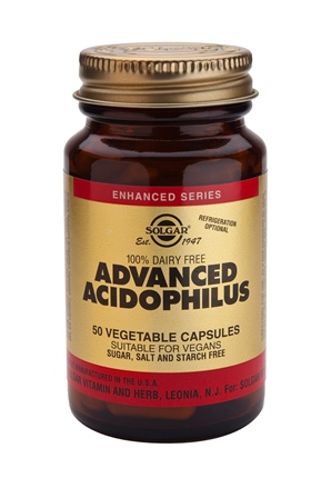 SOLGAR ADVANCED ACIDOPHILUS  50 PLANTAARDIGE CAPSULES