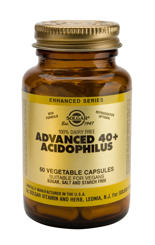 SOLGAR ADVANCED 40+ ACIDOPHILUS  120 PLANTAARDIGE CAPSULES
