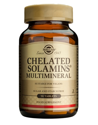 SOLGAR CHELATED SOLAMINS MULTIMINERAL  90 TABLETTEN