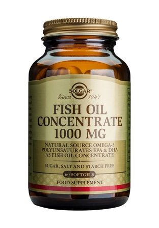 SOLGAR FISH OIL CONCENTRATE 1000 MG  60 SOFTGELS