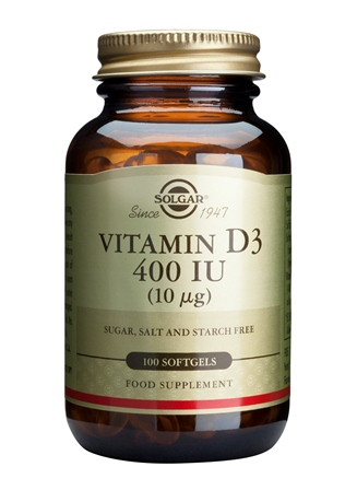SOLGAR VITAMIN D-3 10 µG/400 IU  100 SOFTGELS