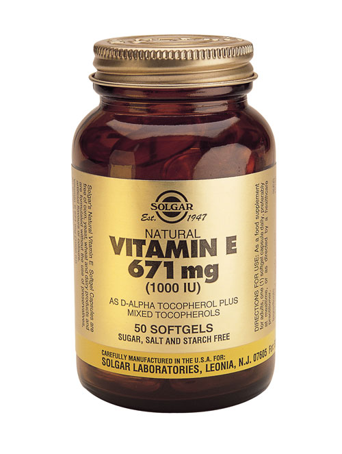 SOLGAR VITAMIN E 671 MG/1000 IU COMPLEX  50 SOFTGELS